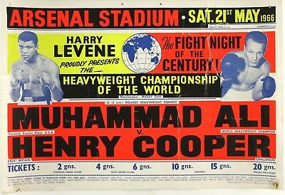 Muhammad Ali vs Henry Cooper , At Arsenal Stadium, 1966, Poster