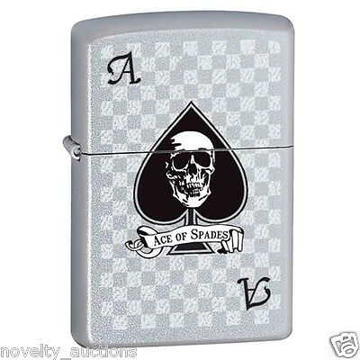 ZP10  ZIPPO  Ace of spades with Skull 852213   Windproof Lighter NEW