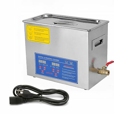 6L Digital Stainless Steel Dental Medical 6 Liter Ultrasonic Cleaner Heater Tank