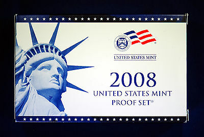 2008-s U.S 14 Coin Proof Set. Complete and Original in BLUE  mint paper box