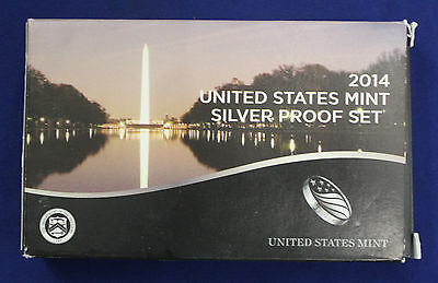 2014-s U.S. SILVER 14 coin Proof Set.  Original as minted by U.S. Mint