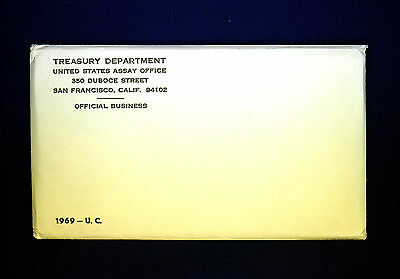 1969 U.S. MINT SET. ISSUED BY US MINT. Envelope Sealed / Unopened