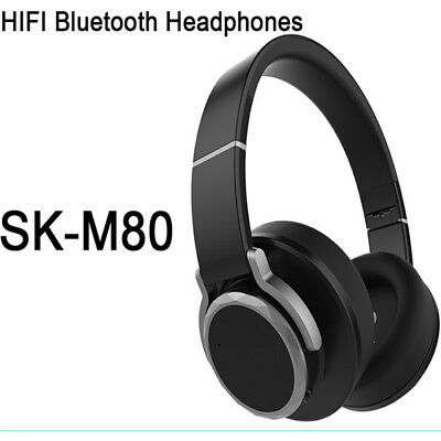 Wireless & wired HIFI Bluetooth 4.1  Stereo Foldable Headphones with Mic Head