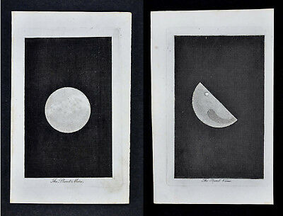 1806 Astronomy Pair of Prints x2 - Venus & Mars - Planets Solar System Space