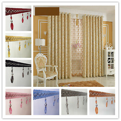 10 color 1M DIY  Curtain Cord Colorful Beaded Fringe/Trim Sewing/Costume/Crafts