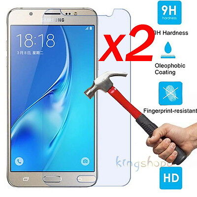 2pc Samsung Galaxy J3 J5 J7 2017 Real 9H Tempered Glass Screen HD Protector Film