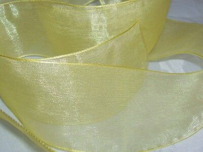 Bright Green Woven Edge Organza Ribbon 3mm 6mm 10mm 19mm 25mm 38mm