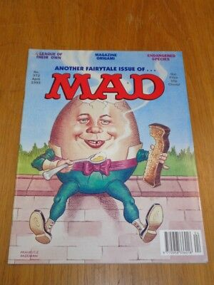 Mad Magazine #372 April 1993 Thorpe And Porter Uk Magazine A League Of Their Own