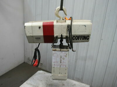 Coffing  4016 7 2 Ton Electric Chain Hoist 208V 3Ph 60Hz 15' Lift 16 FPM TESTED
