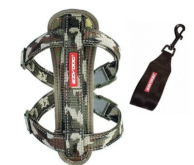 EZYDOG - CAMO SMALL Chest Plate Harness With Seat Belt Loop - Free Delivery