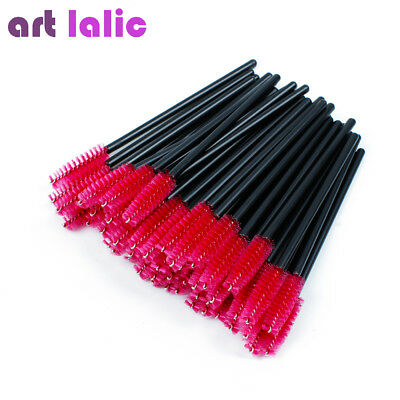 50 Pcs Disposable Eyelash Extension Brush Mascara Wands Makeup Cosmetic Tool