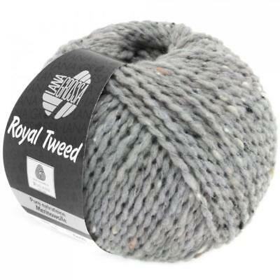 Wolle Kreativ! Lana Grossa - Royal Tweed - Fb. 82 hellgrau meliert 50 g