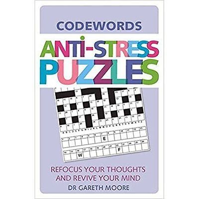 Anti-Stress Puzzles: Codewords, By Gareth Moore,in Used but Good condition