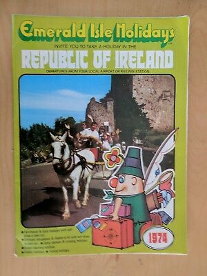 1974 Republic Of Ireland Travel Brochure Emerald Issue Holidays 32 Pages