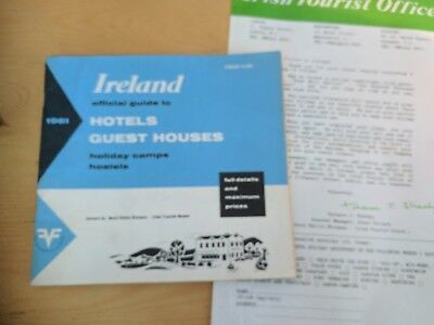 1961 Ireland Irish Tourist Board Hotels Guest Houses Brochure Holidays 80 Pages