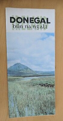 Vintage DONEGAL FOLD OUT 2 SIDED PANELS POSTER IRISH