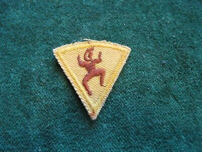 Collectible Yellow Triangle Brownie Girl Scout  Patch