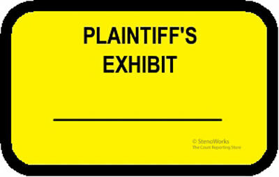 PLAINTIFF'S EXHIBIT Labels Stickers Yellow  492 per pack Free Shipping