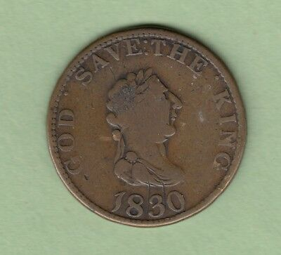 "1830 Isles of Man Token - ""FOR PUBLICK ACCOMMODATION """