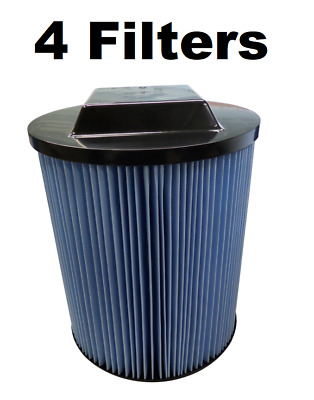 Replacement Ridgid VF5000 6-20 Gallon Wet/Dry Units 3-Layer Filter 4 PACK