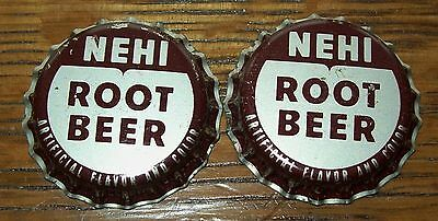 Lot of 4 Nehi Root Beer Vintage Unused Soda Pop Bottle Caps Cork Lined Lids