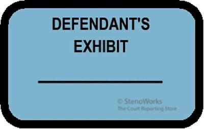 DEFENDANT'S EXHIBIT Labels Stickers Blue  492 per pack Free Shipping