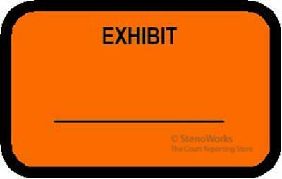 EXHIBIT Labels Stickers Fluorescent Orange  492 per pack Free Shipping