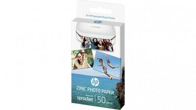 "HP ZINK Sticky-backed Photo Paper - 50 pack sheet - 2""x3"" sprocket IRF42A"