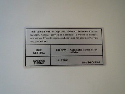1976 LINCOLN CONTINENTAL AND MARK IV 460 ENGINE EMISSIONS DECAL STICKER NEW