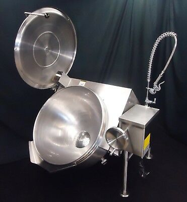 Low Profile Steam Jacketed Tilt Kettle Cleveland Gas 40 Gallon Kgl-40Tsh Perfect