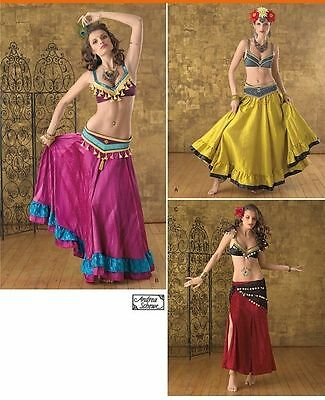 SIMPLICITY 2158 MISSES Belly Dance Costume Top Skirt Belt Sewing ...