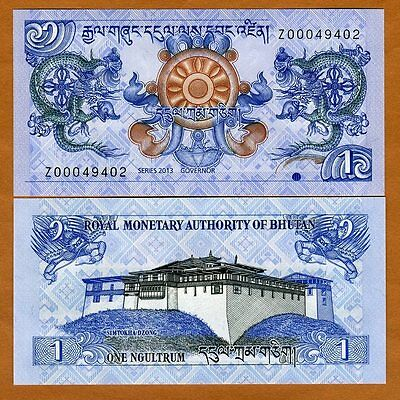 Bhutan, 1 Ngultum, 2013, P-NEW, Z-Prefix, UNC > Replacement