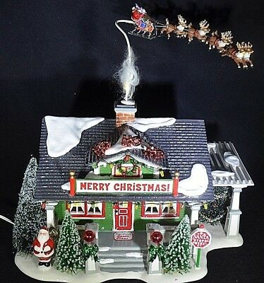 "Department 56 'Snow Village' ""The Santa Claus House"" Rare #55602 Limited Edition"
