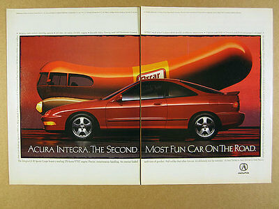 1994 Acura Integra GS-R Coupe & Oscar Mayer Wienermobile photo vintage print Ad
