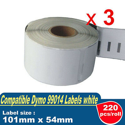 3 ROLLS SD99014 DYMO Compatible Standard Shipping LABELS 101x54mm 99014 SEIKO