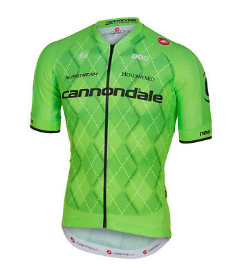 NEW Cannondale Castelli Pro Team Short Sleeve Cycling Bicycling Jersey GREEN 30f0dd130