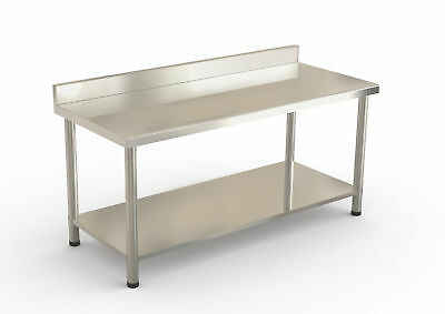"Stainless Steel Commercial Kitchen Work Prep Table w/ Backsplash 60"" x 24"" x 36"""