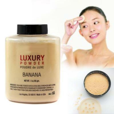 Banana Luxury Bottle Face Powder 3 oz Foundation Poudre Highlighter Makeup 85gm