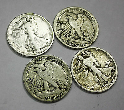 1918-d Walking Liberty Half. Average Grade of Coin You Receive is Photographed
