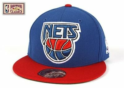 the best attitude c76c4 4c291 NEW JERSEY NETS Mitchell & Ness G021 XL Vintage Logo 2 Tone Fitted Hat
