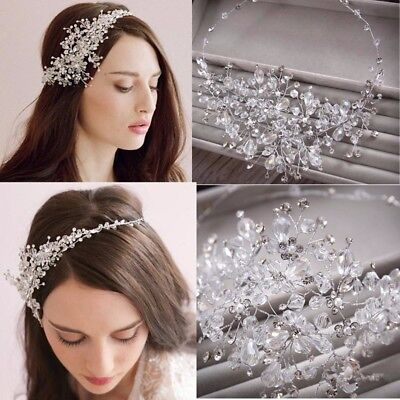 Wedding Bridal Crystal Rhinestone Party Headband Tiara Clear Hair Accessories