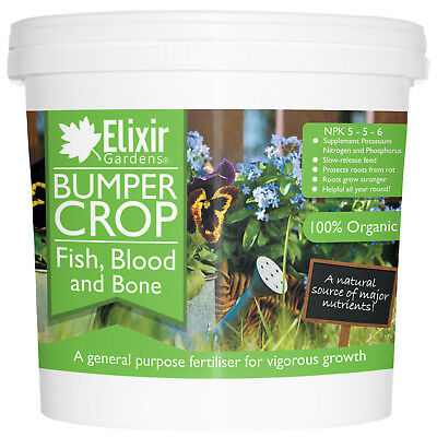 Bumper Crop Blood Fish and Bone Meal Multi-Purpose Organic Fertiliser | 1kg-25kg