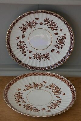 Two Antique Victorian / Edwardian Fluted Plates