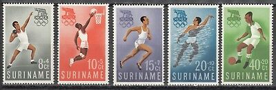 Surinam Nr. 384-388** Olympia 1960 in Rom / Olympic Games 1960 Rom