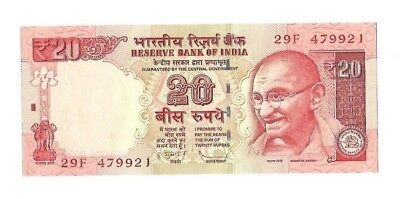 India, Indian - UNC Banknotes - 20 Rupees - 2013 - Lots of 1, 5