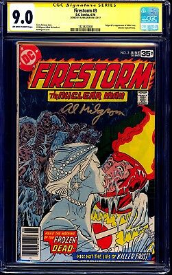 Firestorm #3 CGC SS 9.0 signed Al Milgrom 1st KILLER FROST CW FLASH TV SHOW