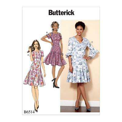 BUTTERICK SEWING PATTERN Misses\' Dress Closed Fitting Easy Size 6 ...