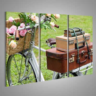 Quadro Moderno Shabby Chic Bicicletta Con Rose Gialle Yellow Roses