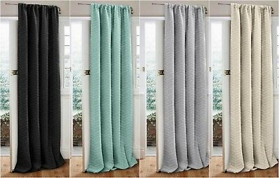 "New Quilted Thermal Door Curtain Panel 46"" x 84"" Reduces Drafts & Heat Loss"