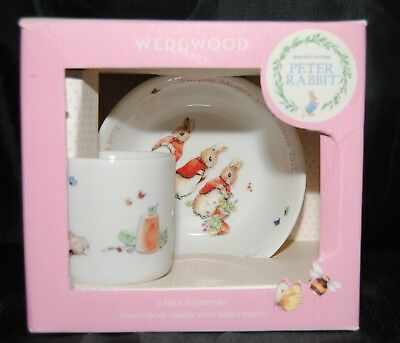 Wedgwood Peter Rabbit S 2 Piece Nursery Set Bowl Cup